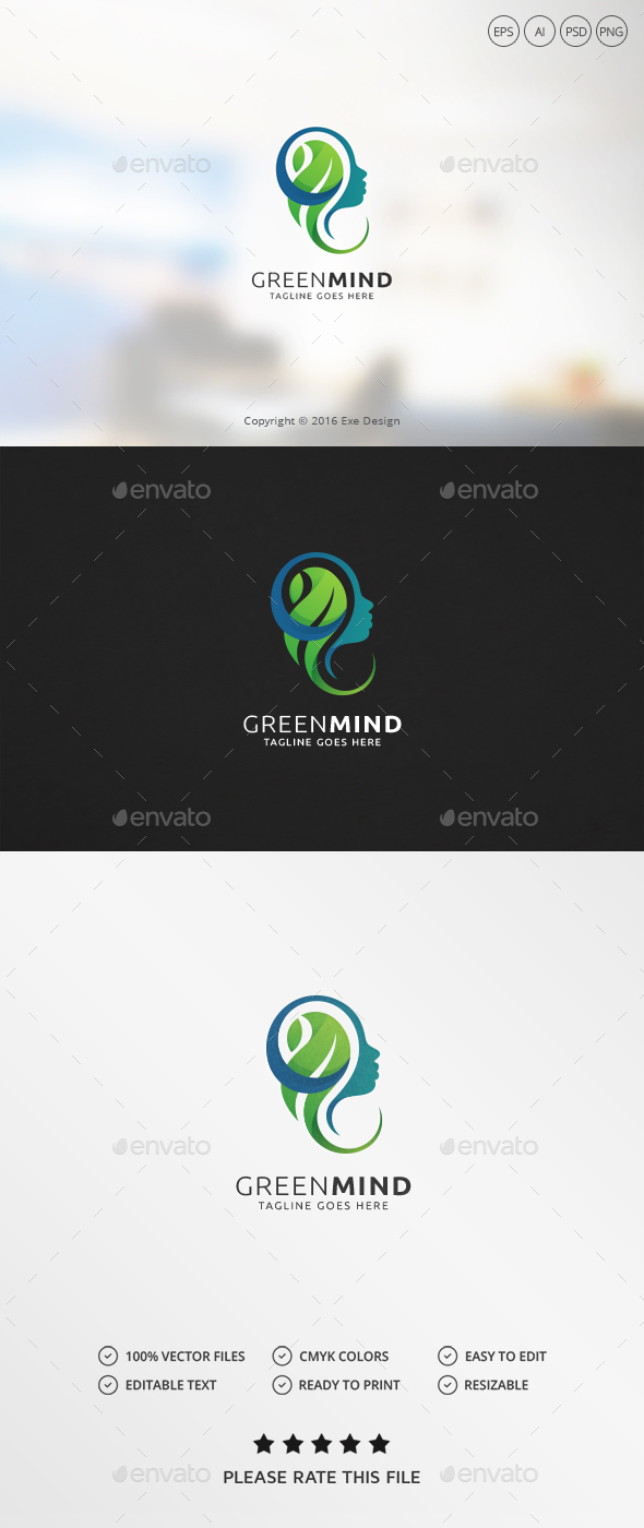 Green Mind Logo - Humans Logo Templates