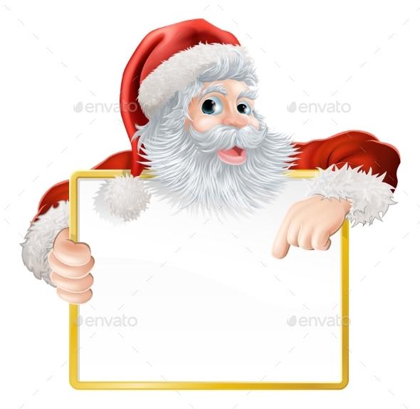 Christmas Santa Claus Sign - Miscellaneous Vectors
