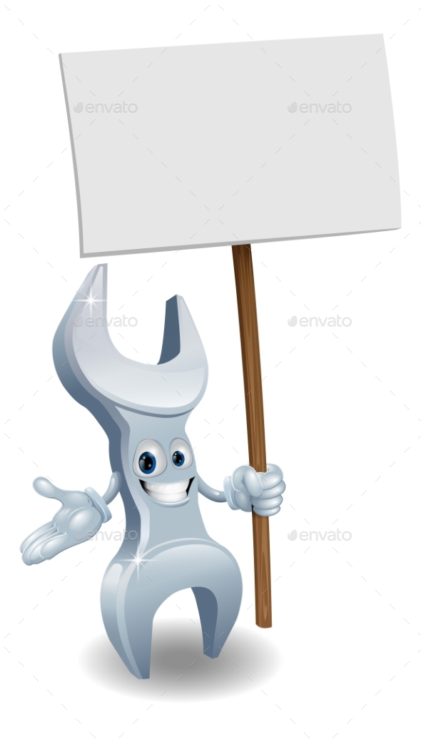 Wrench Holding Billboard - Miscellaneous Vectors