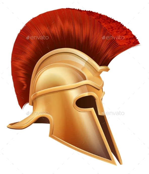 Ancient Greek Warrior Helmet - Man-made Objects Objects