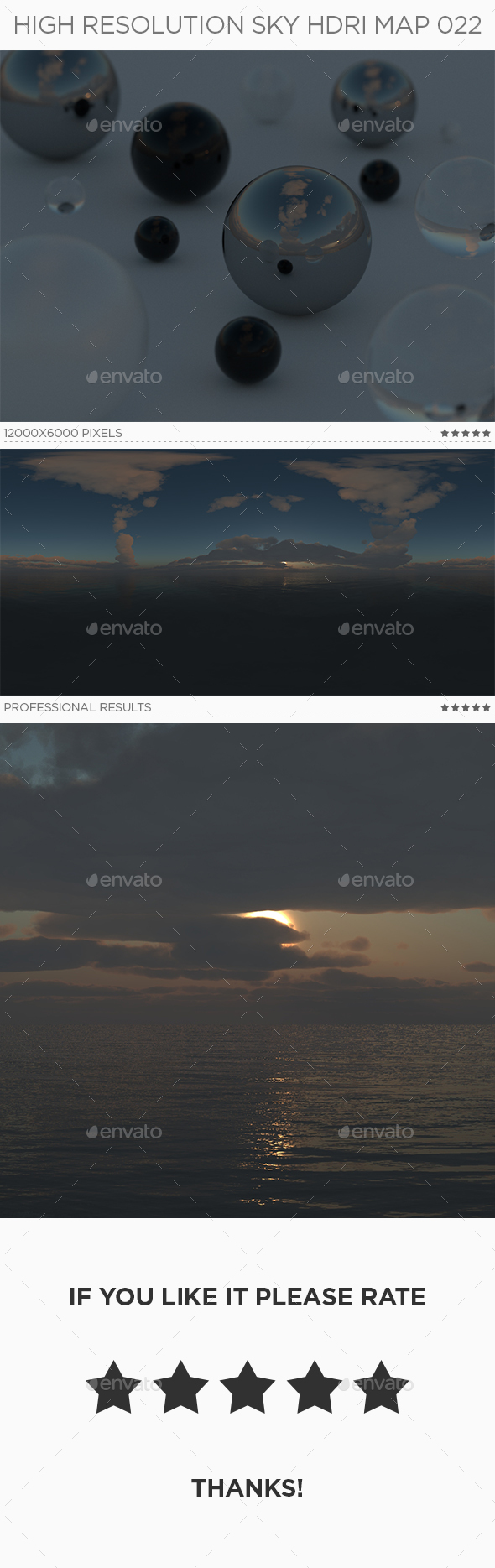 High Resolution Sky HDRi Map 022 - 3DOcean Item for Sale