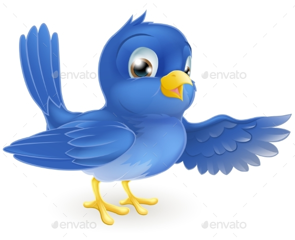 Bluebird Pointing - Animals Characters