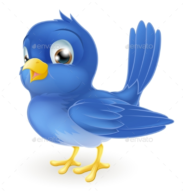 Cartoon Bluebird - Animals Characters