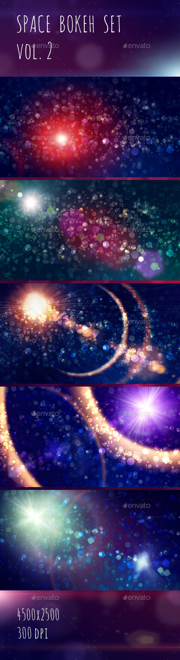 Space Bokeh Light Set vol.2 - Abstract Backgrounds