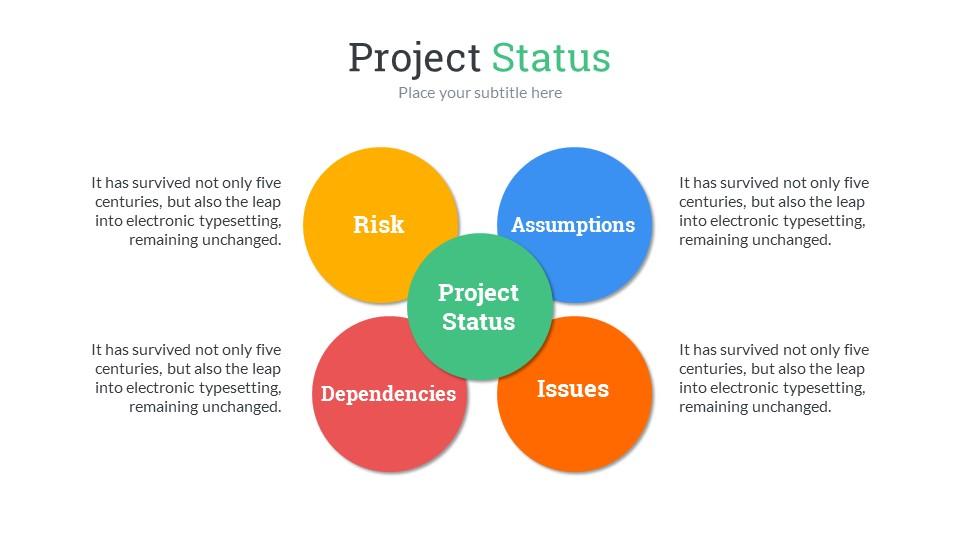 Project status powerpoint presentation template by sananik project status powerpoint presentation template toneelgroepblik Gallery