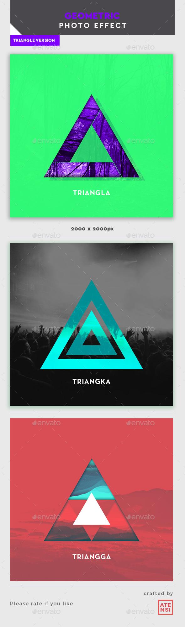 Triangle Geometric Template - Artistic Photo Templates