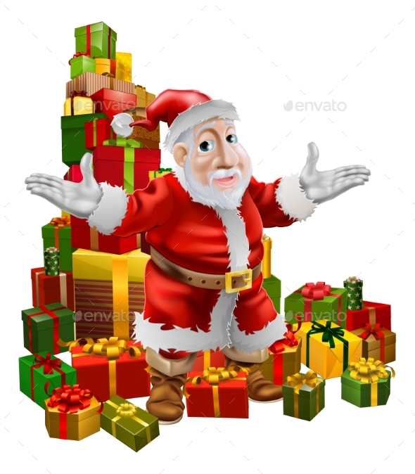 Santa and Christmas Gifts - Seasons/Holidays Conceptual