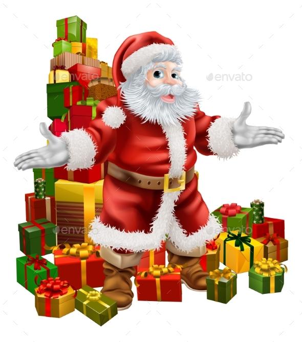 Santa Claus and Christmas Gifts - Seasons/Holidays Conceptual
