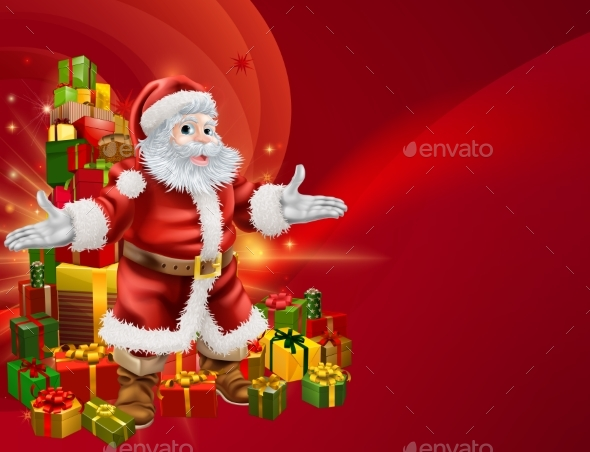 Santa and Presents Background - Seasons/Holidays Conceptual