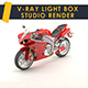 Vray light box studio render scene - 3DOcean Item for Sale