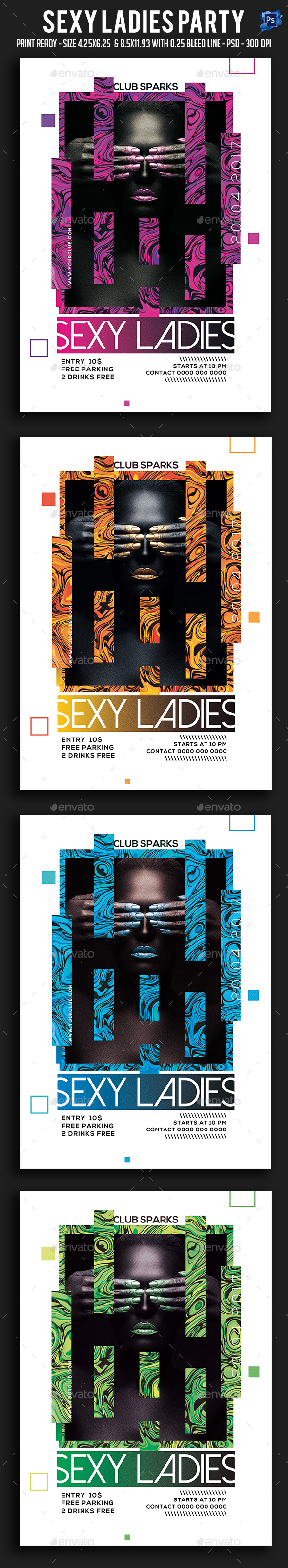 Sexy Ladies Party Flyer - Clubs & Parties Events