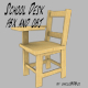 School Desk FBX_OBJ - 3DOcean Item for Sale