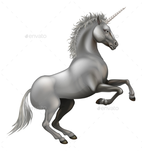 Powerful Unicorn Illustration - Animals Characters