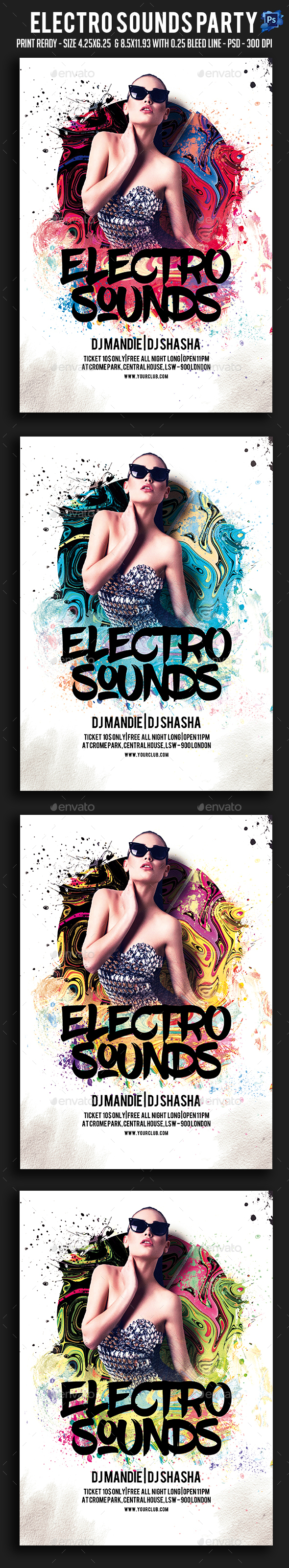 Electro Sounds Party Flyer - Clubs & Parties Events