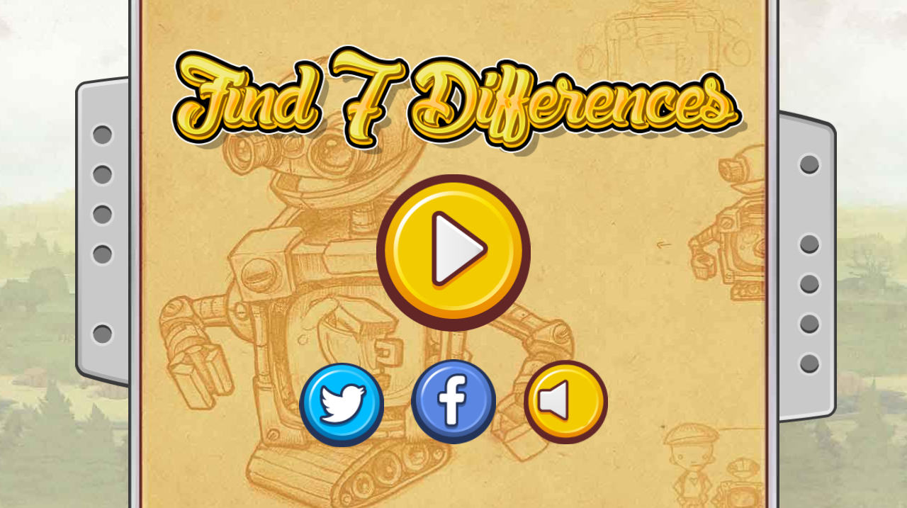 Find 7 Differences Game - HTML5 Educational game (CAPX included)