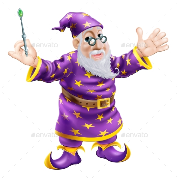 Wizard with Wand - People Characters
