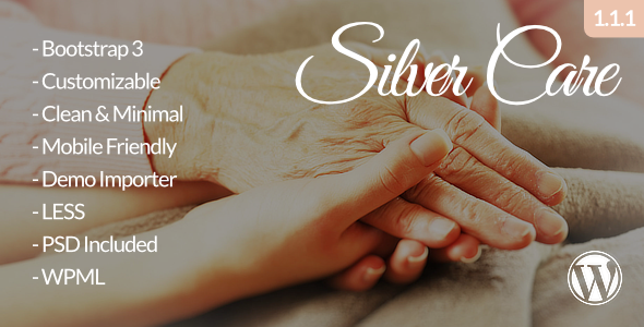 Silver Care - Senior Care / Retirement Home WordPress Theme - Health & Beauty Retail