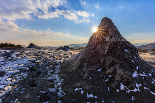 Mud Volcanoes, Romania - Stock Photo - Images