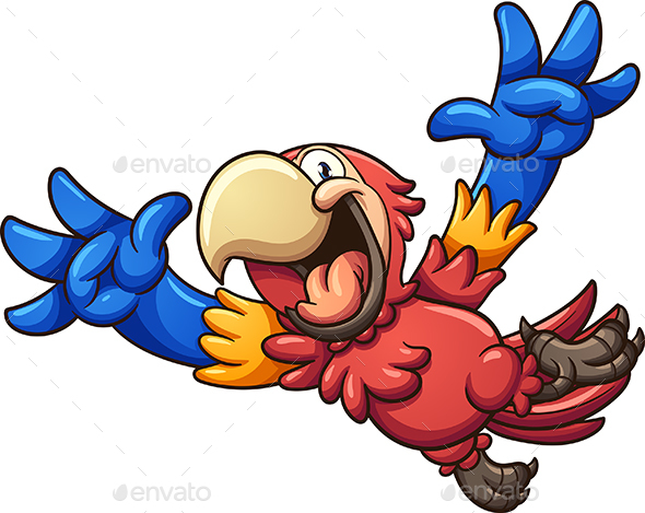 Red Macaw - Animals Characters