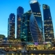 View of Business Center Moscow City at Sunset. - VideoHive Item for Sale