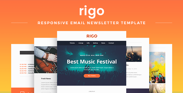 Image of Rigo - Responsive Email Newsletter Template