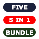 Bundle - Five Photoshop Actions 5 in 1 - GraphicRiver Item for Sale