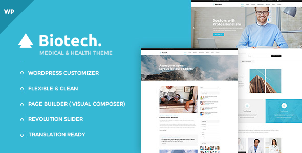 Biotech – Flexible Medical and Health WordPress Theme