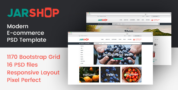 JARSHOP – Multipurpose E-Commerce PSD Template