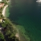 The Yacht in the Bay of Kotor, Aerial Photography Drone, Adriati - VideoHive Item for Sale