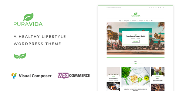 PuraVida – A Healthy Lifestyle WordPress Theme