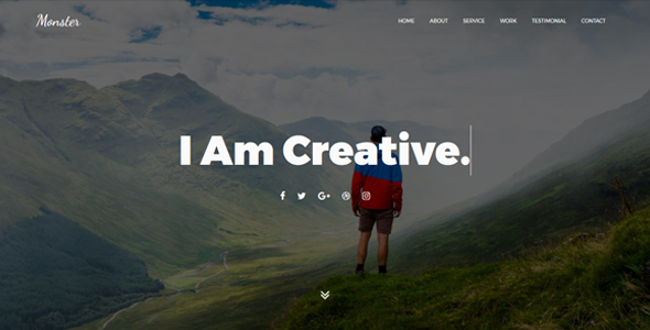Monster – Personal Portfolio Template
