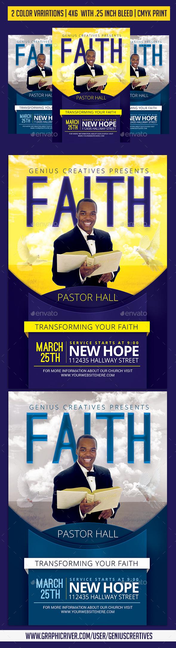 Faith Church Flyer - Church Flyers