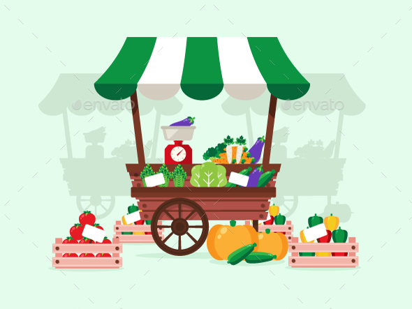 Vegetable Stand - Food Objects