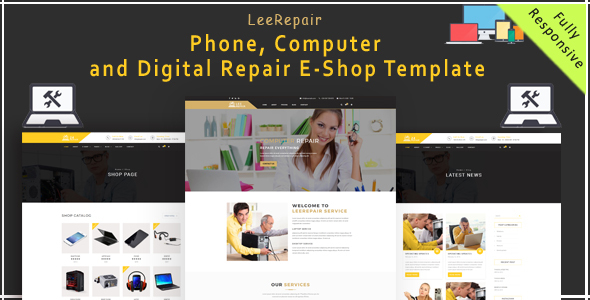 leeRepair – Mobile, Computer, Electronic and Digital Repair E-Shop HTML5 Template