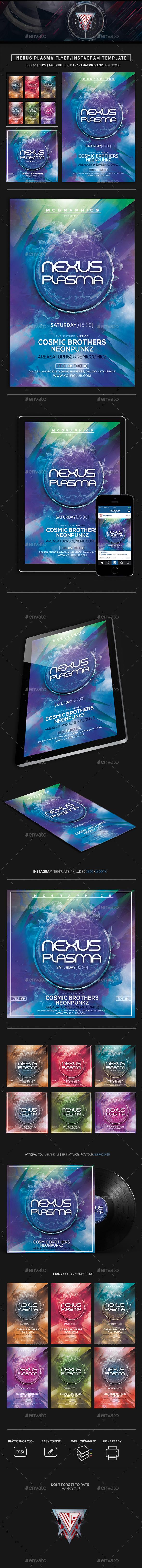 Nexus Plasma Flyer/Instagram Template - Flyers Print Templates