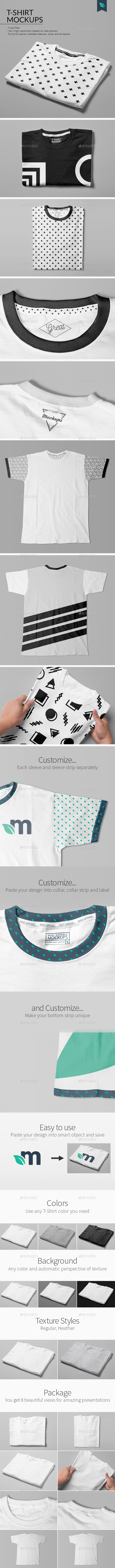 T-Shirt Mockups Studio Edition - T-shirts Apparel