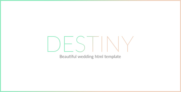 DESTINY – WEDDING HTML TEMPLATE