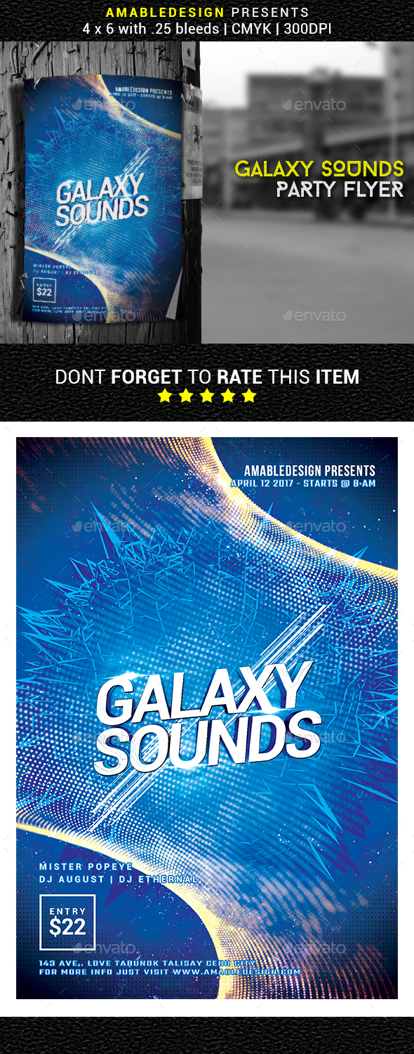 Galaxy Sounds Flyer - Events Flyers