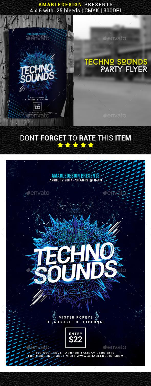 Techno Sounds Flyer - Events Flyers