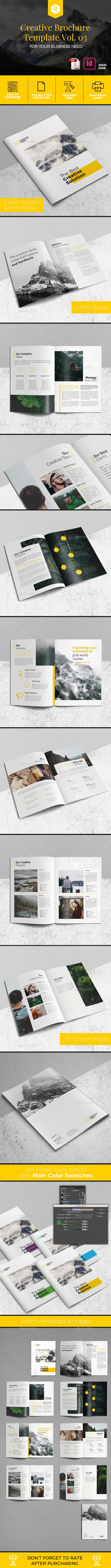 Creative Brochure Template Vol. 03 - Corporate Brochures