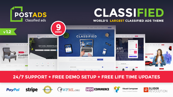 Classified WordPress Theme – PostAds
