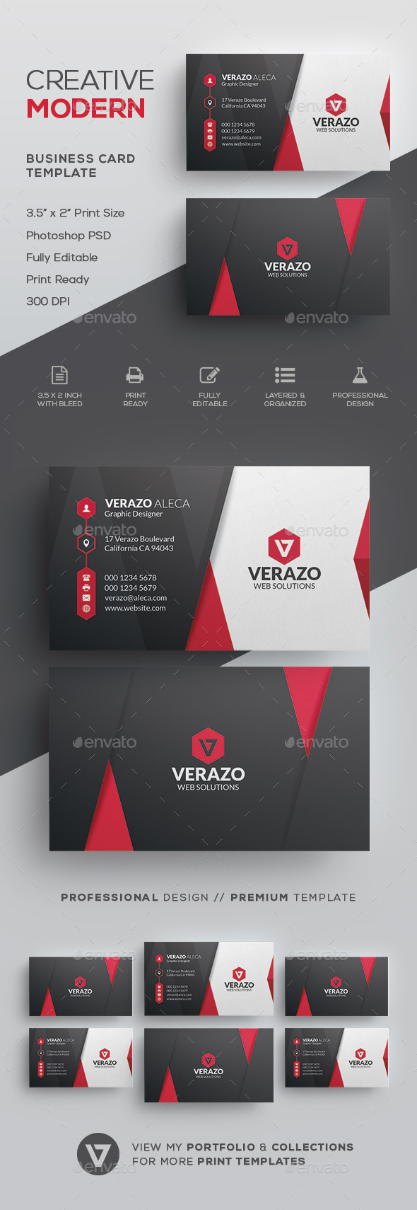 Modern Business Card Template - Corporate Business Cards