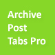 Archive Post Tabs Pro - CodeCanyon Item for Sale