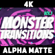 100 Monster Transitions 4K - VideoHive Item for Sale
