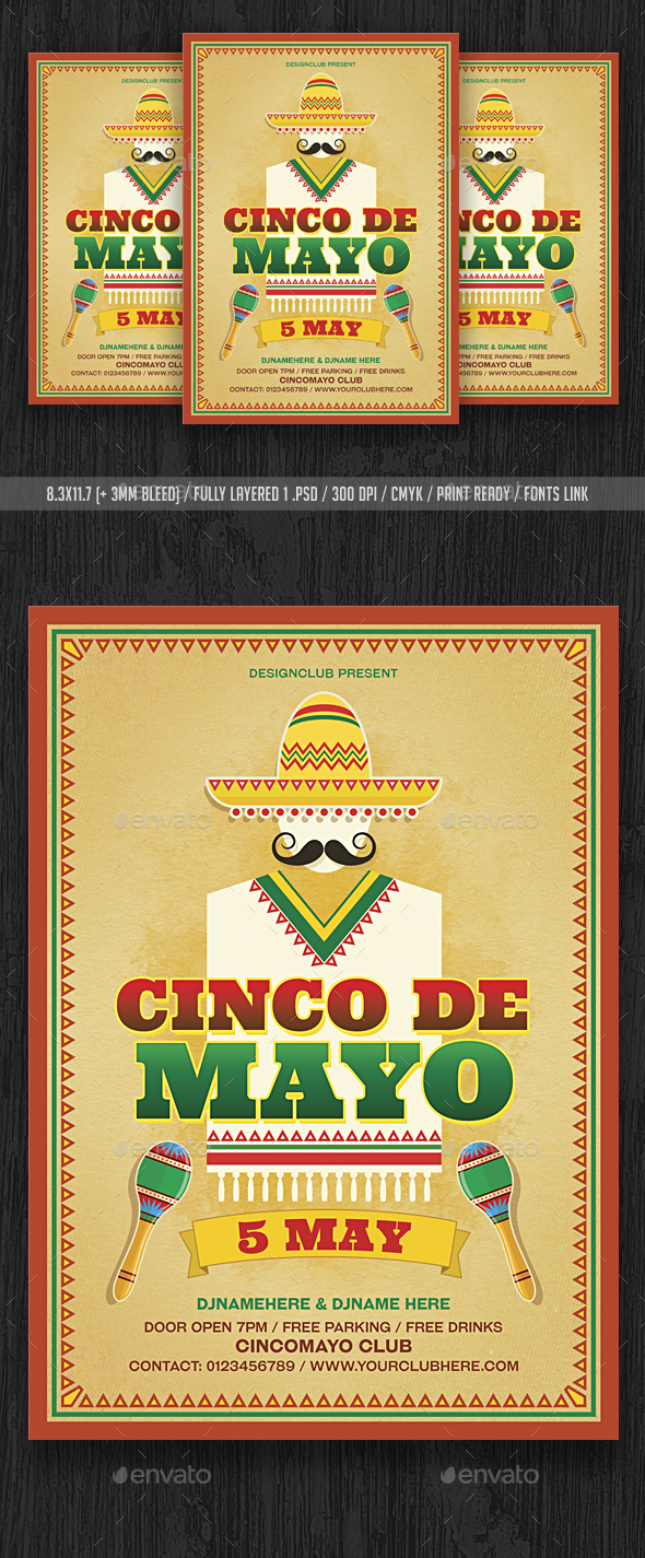 Cinco De Mayo - Events Flyers