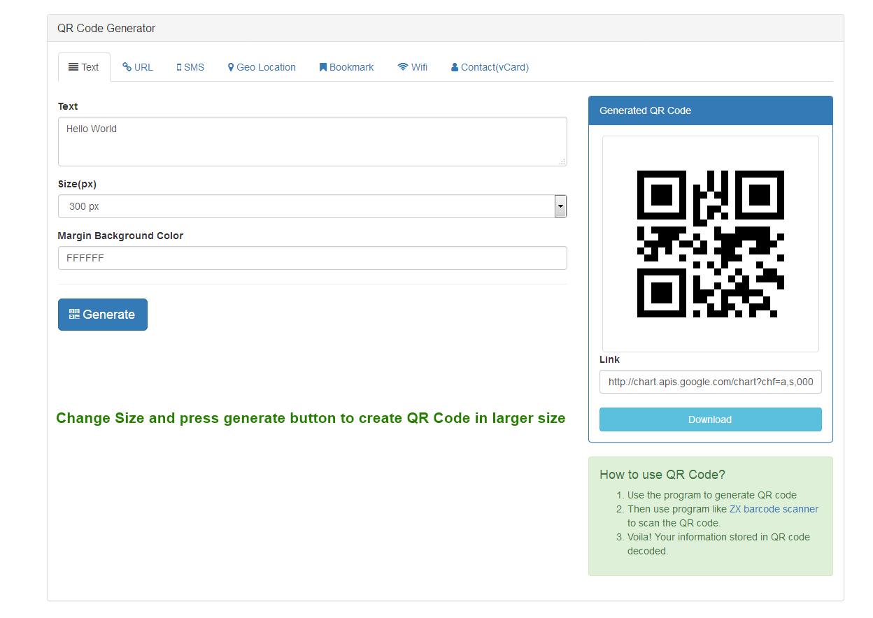 Bootstrap Ultimate QR Code Generator