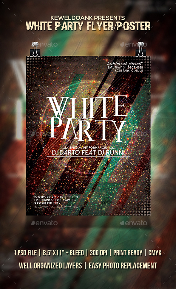 White Party Flyer / Poster - Clubs & Parties Events