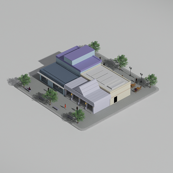 Low Poly Block (Shops) - 3DOcean Item for Sale