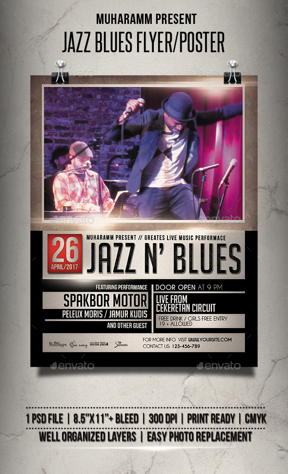 Jazz Blues Flyer / Poster - Events Flyers