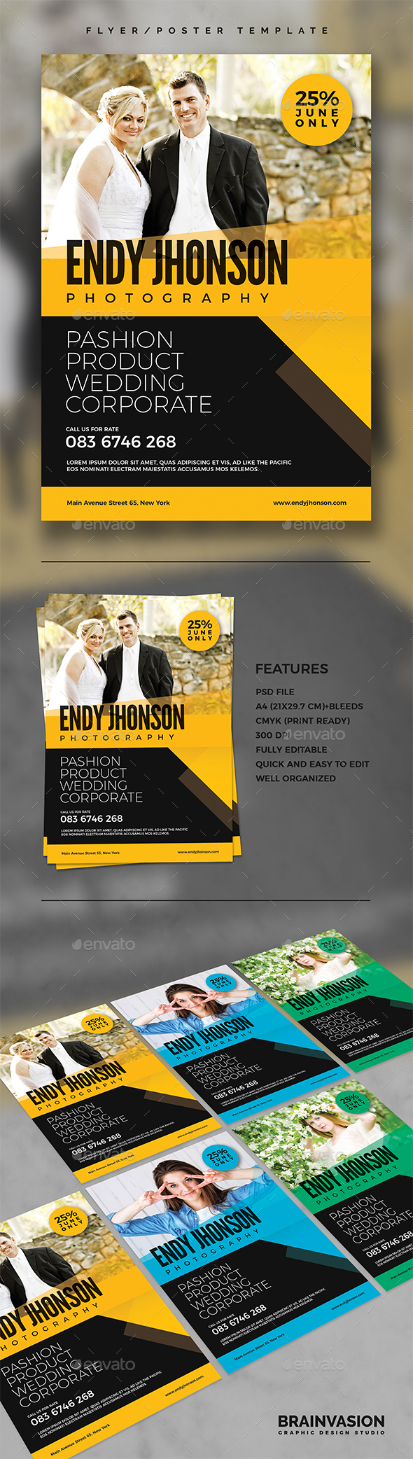 Photographer Flyer/Poster Template Vol.02 - Corporate Flyers